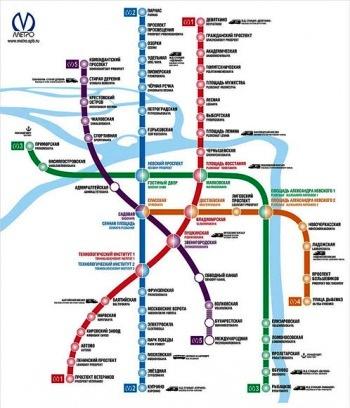карта метро петербург